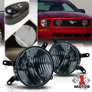Smoke Tinted Lens Fog Light Bumper Lamps W Switch Harness For 05 09 Ford Mustang