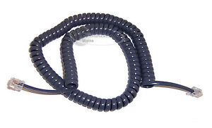 Replacement Coil Handset Curly Cord For At t 900 Phones Titanium Blue New