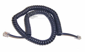 Lot Of 5 Replacement Coil Handset Curly Cords For At t 900 Phones Titanium Blue