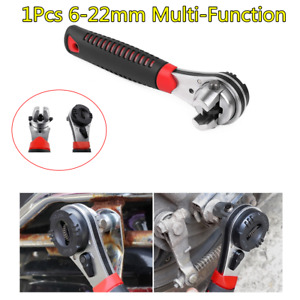 1pcs New Quick Snap Grip Adjustable Spanner 6 22mm Ratchet Wrench For Car Repair