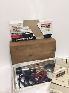 Vintage Sears Penske Chrome Power Timing Light 244 2115 W Box And Instructions