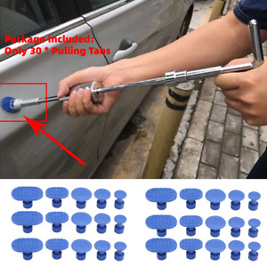 30pcs Set Car Body Dent Removal Pulling Tabs Paintless Puller Tabs Repair Tools
