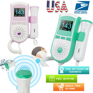 Lcd Fetal Doppler 3 0mhz Probe Baby Heart Beat Rate Ultrasonic Monitor Prenatal
