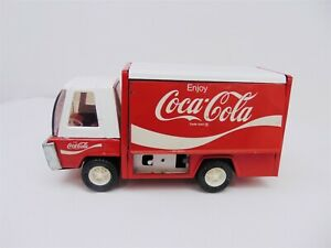 Vintage Buddy L Red/White Coca Cola Side Delivery Truck