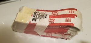 10 000 Self sealing Currency Bands Straps 500 Denomination Red Money Mmf