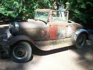 1928 1929 Ford Model A Sport Coupe Project Hot Rod Rat 28 29 Parts Restore