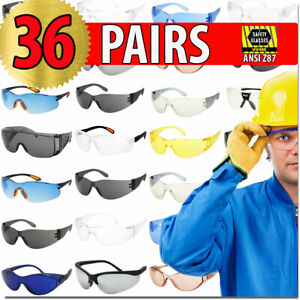 Protective Glasses Safety Glasses 36 Pairs Anzi Z87 Protection Eyewear Lot Bulk