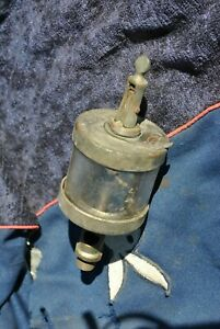 Original Rare Wilkinson Hit Miss Gas Engine Brass Oiler