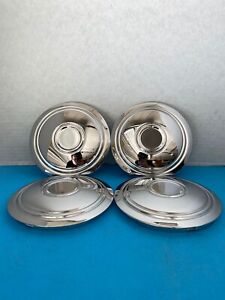 4 Original Chrome Steel Center Caps For Mclean Wire Wire Wheels W Nl
