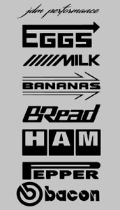 8 Sponsor Decal Pack Jdm Racing Stickers Eggs Bananas Milk Funny Cars Sponsor