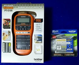 Brother P touch Edge Label Maker Pt e105 With Extra Tze fx231 Labeling Tape