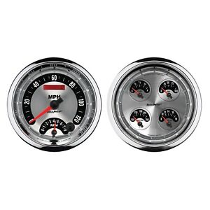 Autometer 1205 Gauge Set Tach And Speedo Kit With Electric Air Core 5