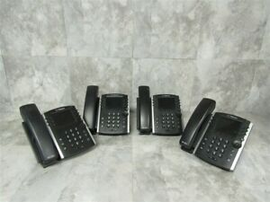 Lot Of 4 Polycom Vvx411 Color Ip Office Pones Tested