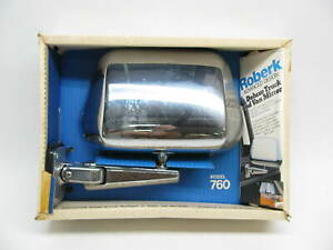 Vintage Roberk 760 Truck And Van Mirror One Point Point Mount Swing Away Chrome