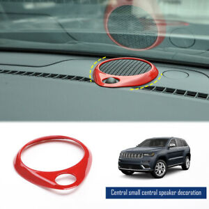 Dashboard Speaker Ring Decor Cover For Jeep Grand Cherokee 2011 Accessories Red