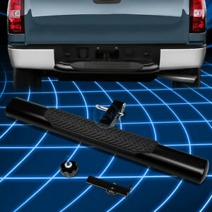 Universal 2 Receiver Brake Light Trailer Tow Towing Hitch Rear Step Bar Black