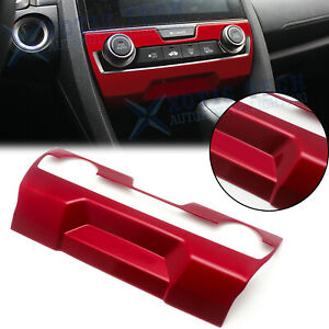 Sport Red Ac Climate Control Frame Cover Trim For Honda Civic 10th Gen 2016 2020