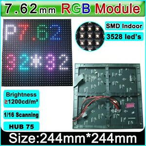 40pcs Of P7 62 32x32 Rgb Led Matrix Panel 7 62mm Pitch Led Display Module