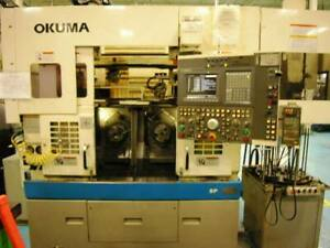 Okuma Lsf10 2sp Twin Spindle Cnc Lathe With Loader stacker