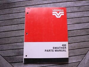 Versatile Farm Equipment 400 Swather Parts Manual Catalog Manitoba Canada 1983