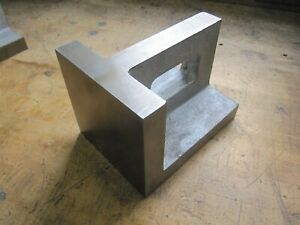 33 Lbs approx 6 X 6 X 8 Precision Machinist Angle Set up Plate 1 1 4 Thick