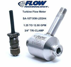 Flow Meter 1 25 To 12 50 Gpm New Flow Technology Sa Series 3 4 Sa10t1xw legh