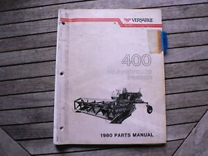 Versatile Farm Equipment 400 Self propelled Swather 1980 Parts Manual Catalog