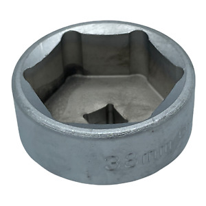 38mm Metric Low Profile Oil Filter Socket 3 8 Drive 6 Point Hex