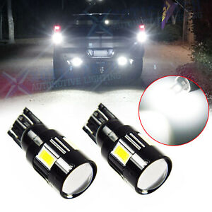 Pure White 6 Smd T10 194 921 Projector Led Bulbs For Backup Reverse Lights Lamps