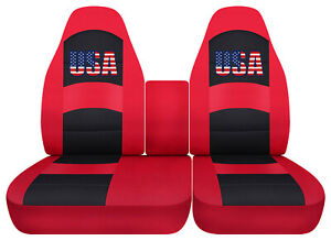 Usa Flag Car Seat Covers Red Fits Ford F150 Lightning 40 60 Hiback Console