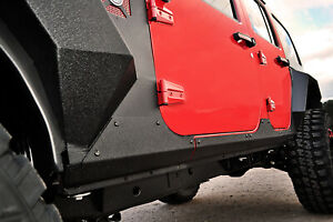 Rugged Ridge Body Armor Cladding Rocker Panel Guard Steel 07 18 Jeep Wrangler