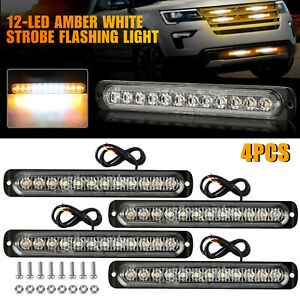 10pcs Amber Red Led Car Truck Trailer Rv Oval 2 5 Side Clearance Marker Lights