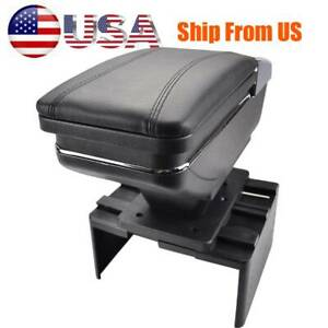 Car Storage Armrest Central Console Box For Universal Console Soft Leather Us