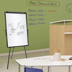 Kids Magnetic Writing Whiteboard Height Adjustable Tripod Stand W Dry Erase