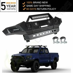 Us Black Steel Step Front Bumper Assembly Fits Toyota Tacoma 2005 2006 2014 2015