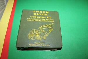 Green Guide Volume Ii Book 1983 Construction Equip Values