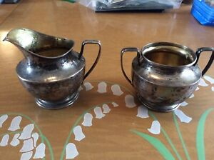 Vintage Sterling Silver Creamer And Sugar Bowl 6 2 Oz