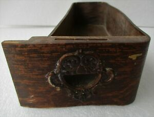 Curved Oak Treadle Sewing Machine Drawer W Applied Carvings Right Hand