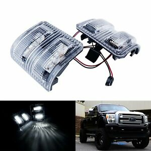 For Ford F250 F350 F450 08 Clear Lens Side Mirror Marker Led Signal Light Lamps