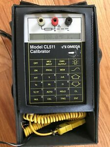 Thermocouple calibrator Thermometer Omega Cl511 price Reduced