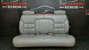 1999 Suburban 2500 3rd Third Row Rear Bench Seat Gray Leather Trim Code 132