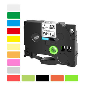 6 36mm Tape Compatible With Brother P touch Label Maker Tze231 Tze241 Tz251