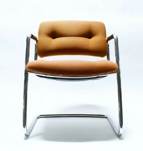 Vintage Mid Century Modern Steelcase Office Chair Orange