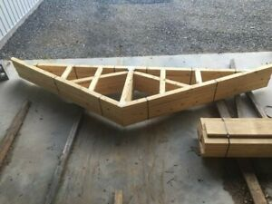 Wood Roof Trusses Newly Constructed Perfect For Shed
