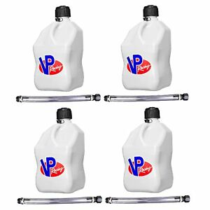 Vp Racing Fuels 5 gal Motorsport Container White W 14 Standard Hose 4 Pack