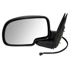 Drivers Power Side View Mirror W Cap For Cadillac Chevy Gmc Pickup Truck Suv