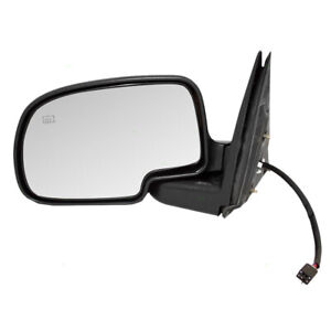 Drivers Power Side View Mirror Heated For Cadillac Chevy Gmc Suv Pickup Truck