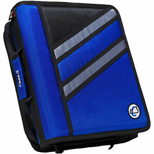Case It Dual Ring Zipper Binder Z shaped Blue 3 Inch Z 176