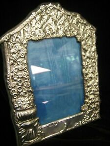 Vintage Estate Ornate Hallmarked English Sterling Silver Photo Frame