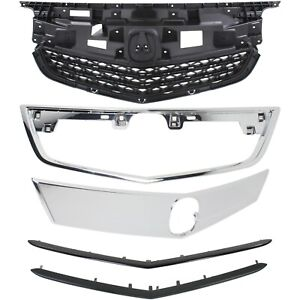 New Grille Grill Kit For Acura Tl 2012 2014